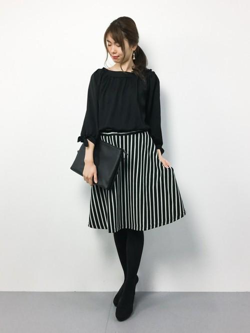 スカートがアクセント
