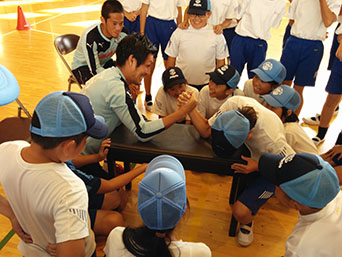 選手会の学校訪問