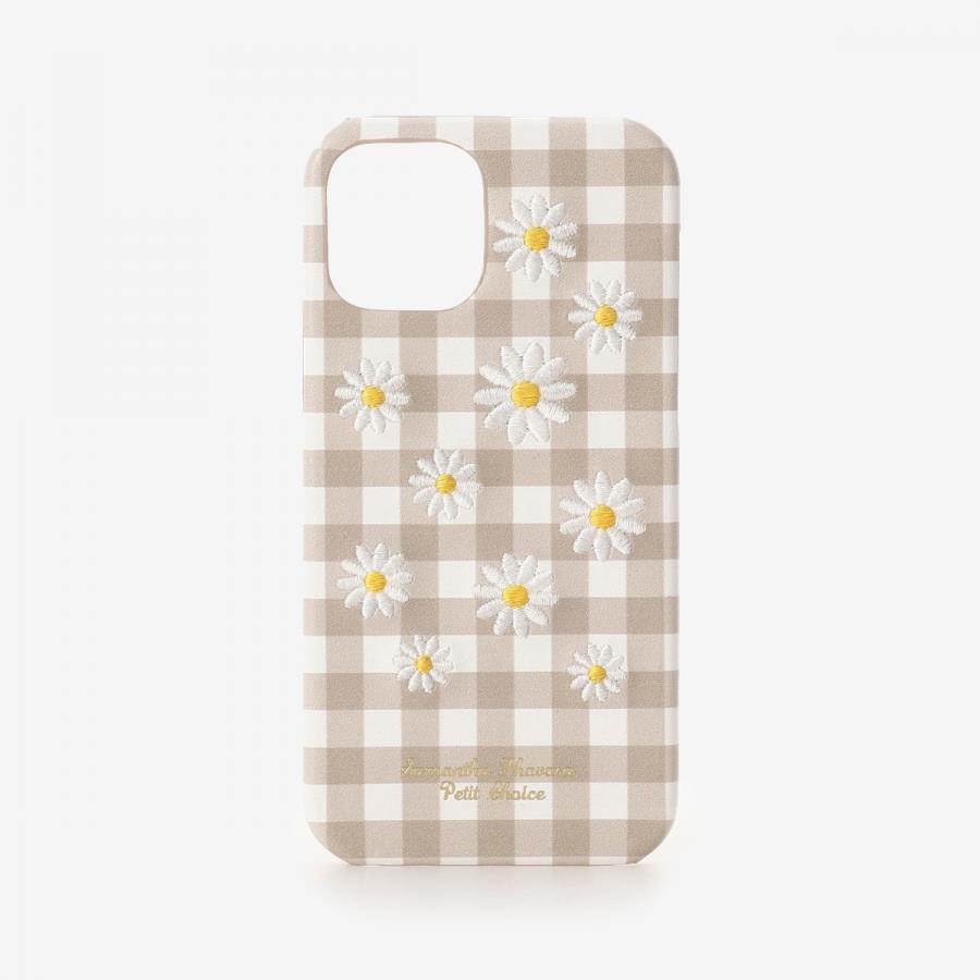 iPhone12-12proケース カモミール刺繍