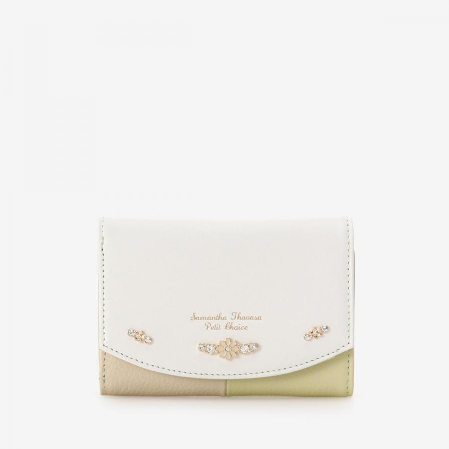 バイカラーデイジー折財布