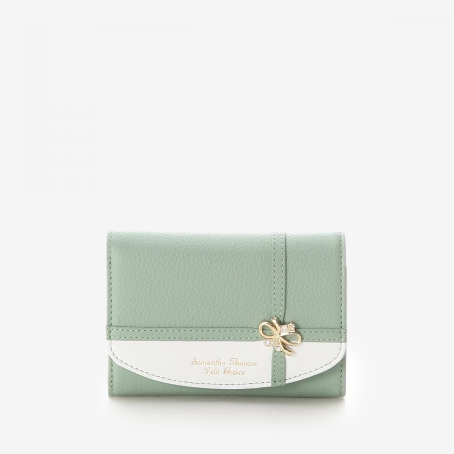 リボンラッピング折財布