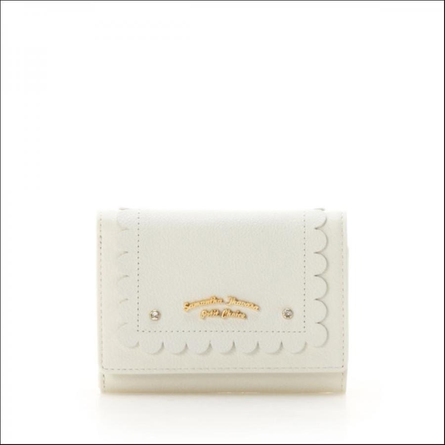 シンプルスカラップシリーズ(折財布)【3年保証対象】