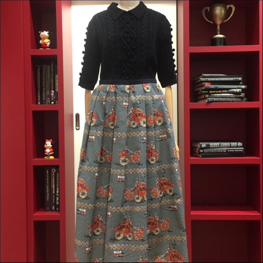 キャリーカープリントスカート