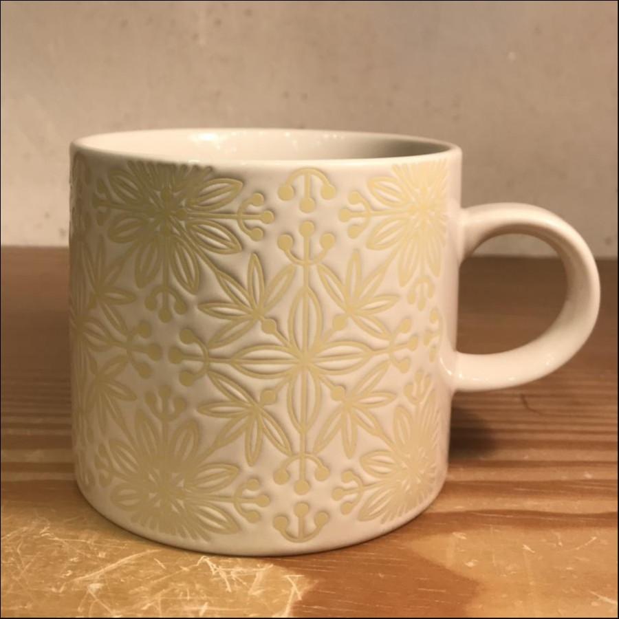 フラワーモザイクマグカップ