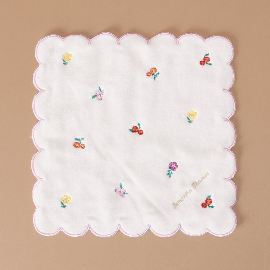 フラワー刺繍ハンドタオル