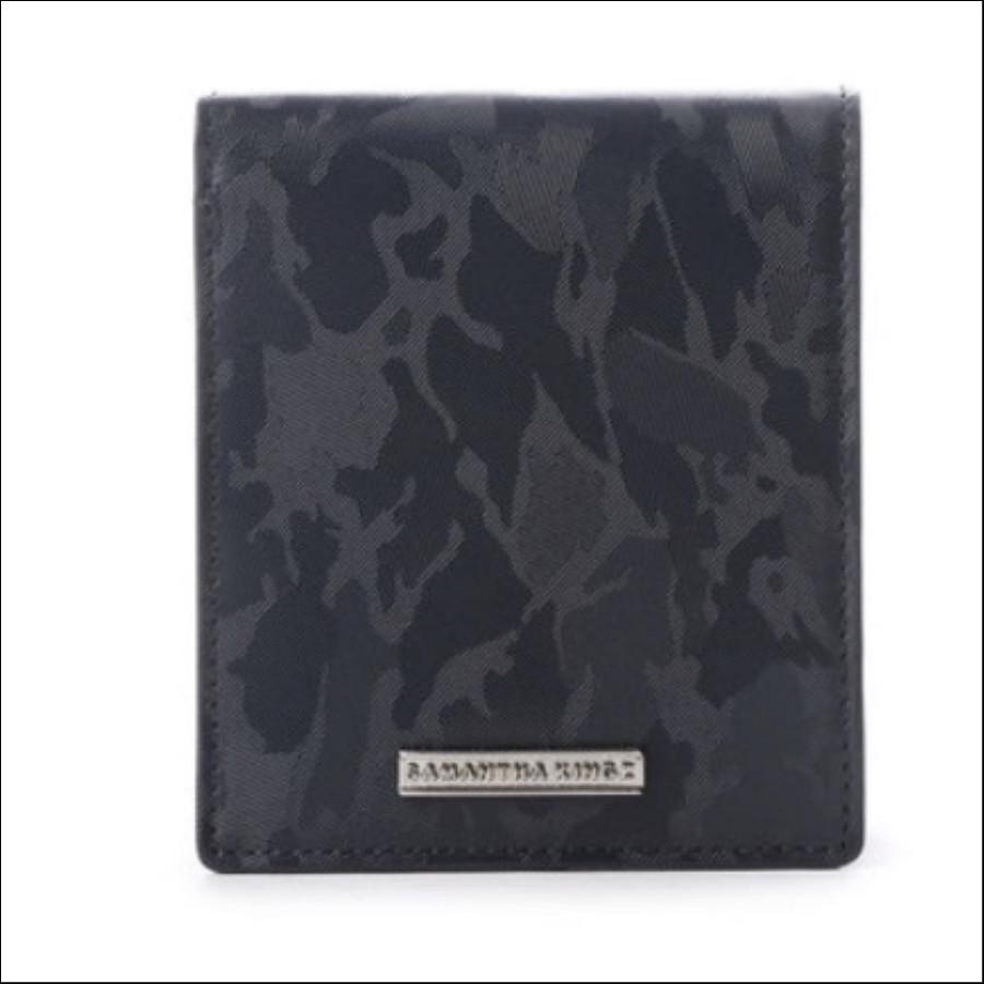 カモフラレザー折財布
