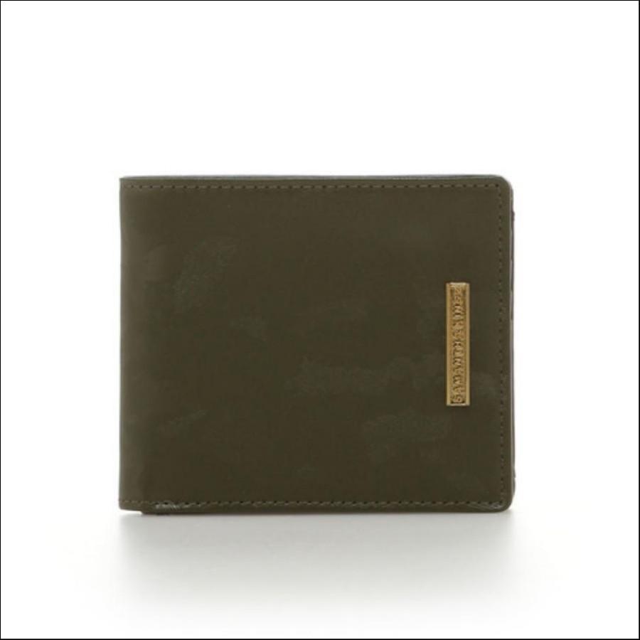 カモフラレザー 折り財布