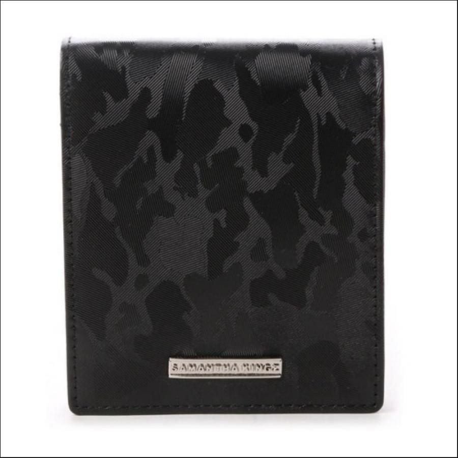 カモフラレザー 折財布