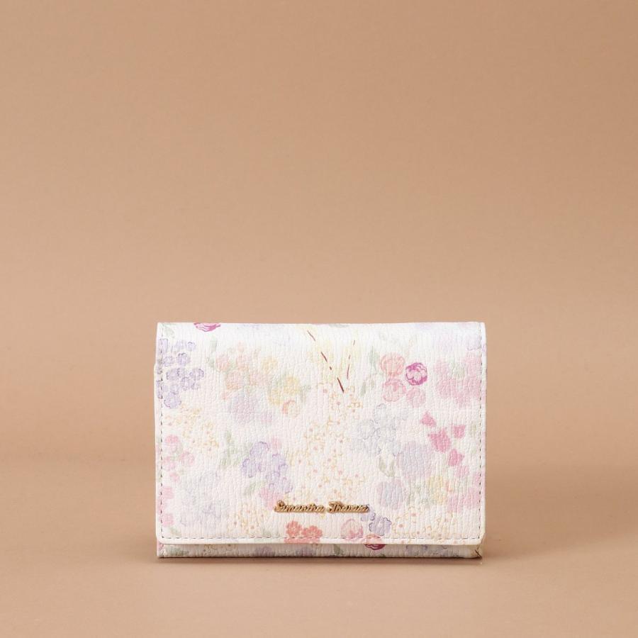 オリジナルフラワープリント 三つ折り財布
