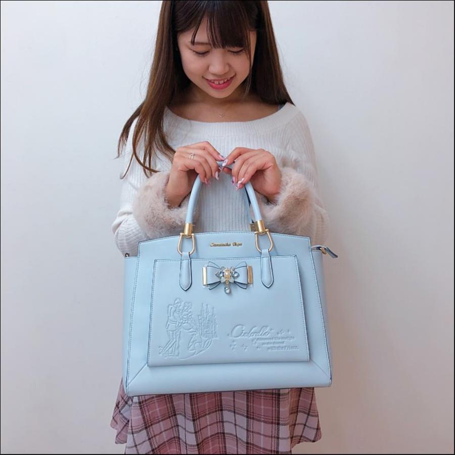《大人気Disneyコレクション》プリンセスビジューリボンバッグ♡