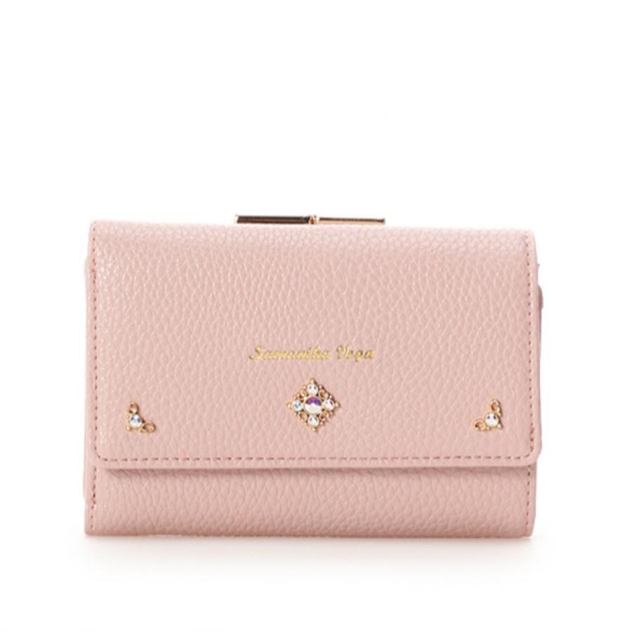 【再入荷】シンプルビジュー折財布❤︎
