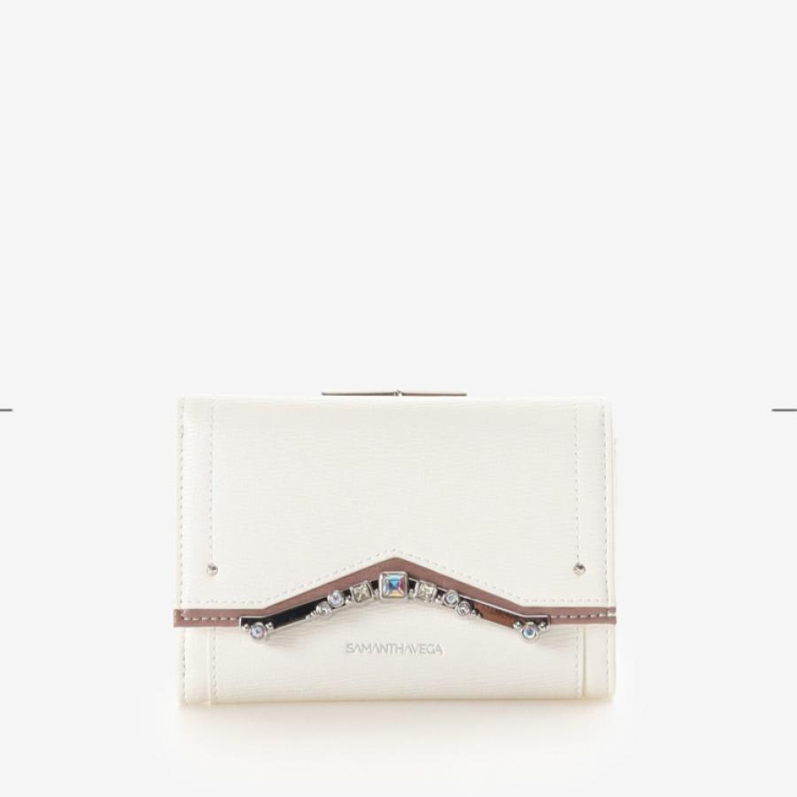 ストーンモチーフ折財布