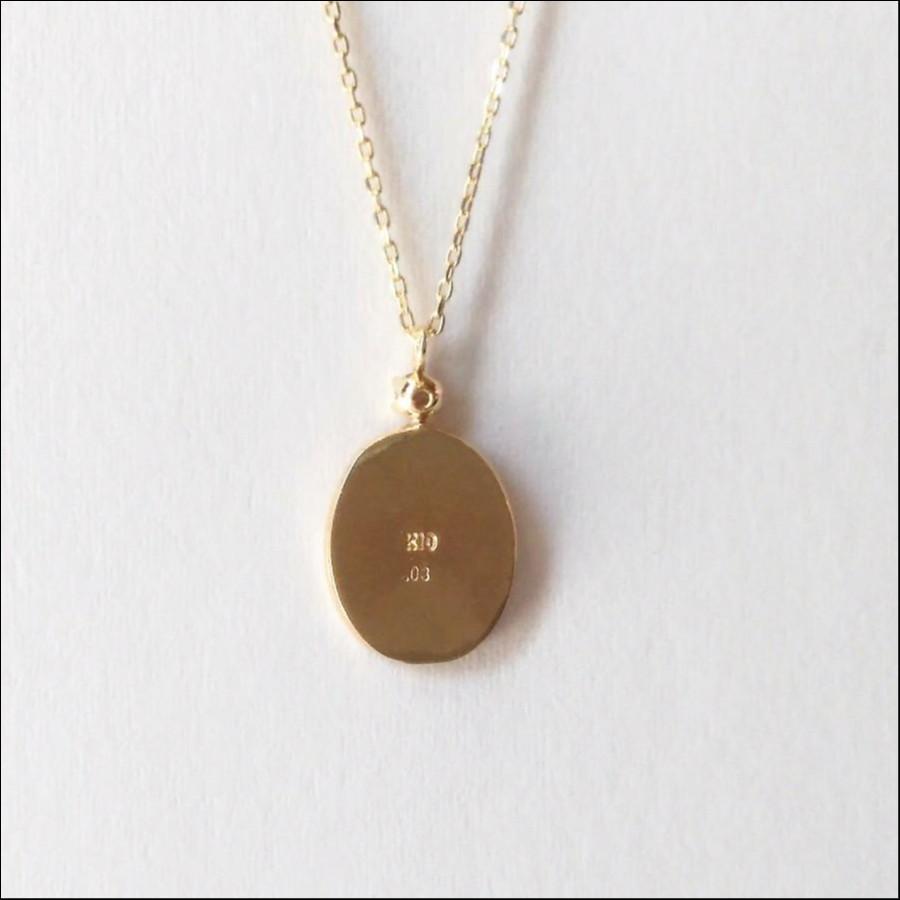 【メダイ・1粒ダイヤモンド】ネックレス