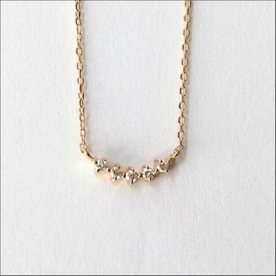 【5粒ダイヤモンド】ネックレス