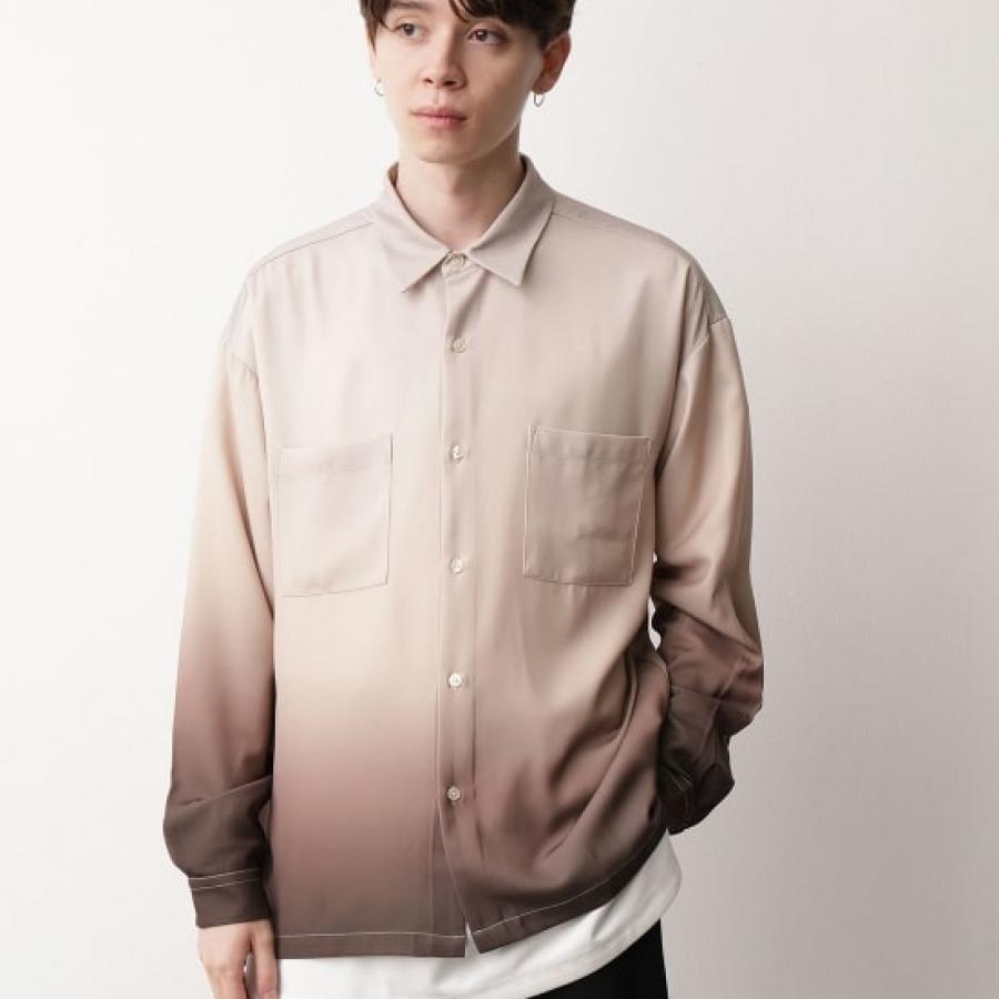グラデーションビックシャツ