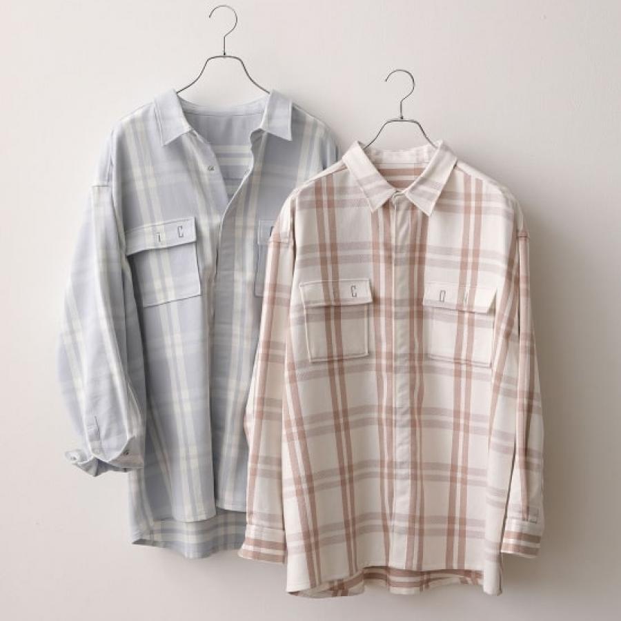 it iCON チェックBIGシャツ
