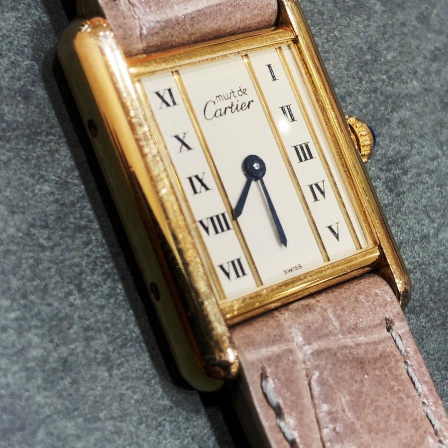 CARTIER カルティエ must TANK マストタンク クォーツ SM 腕時計 中古 アンティーク