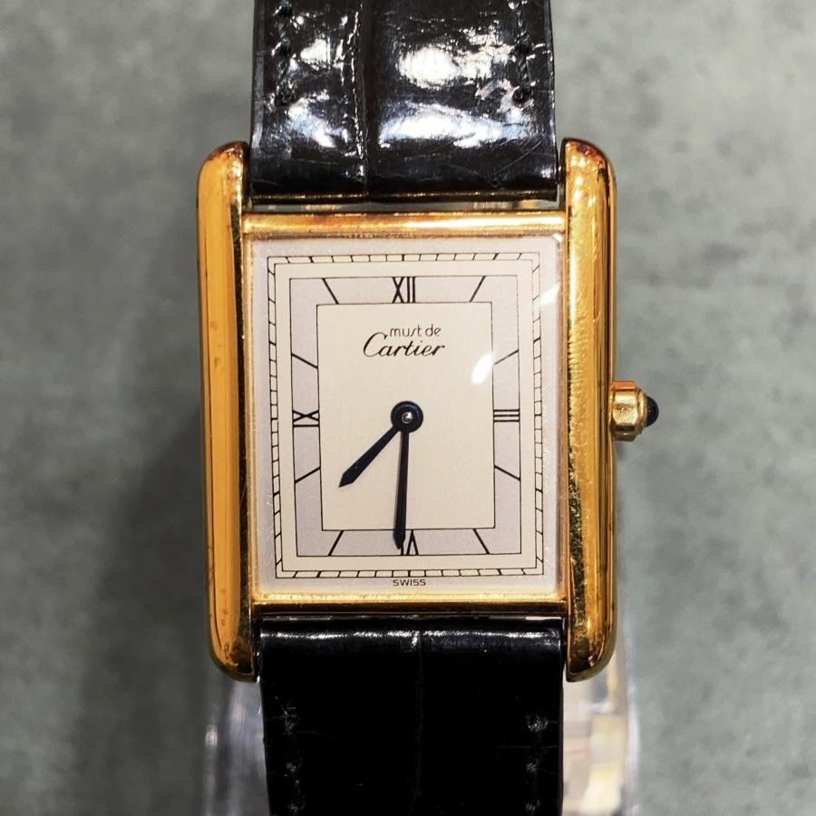 CARTIER カルティエ must de Cartier TANK マスト タンク LM 腕時計 中古 アンティーク