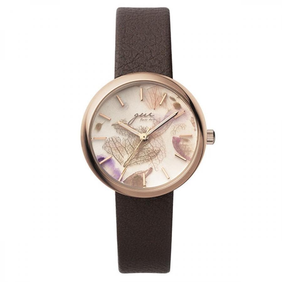 SPICA×gui flower design スピカ×グイ フラワー デザイン フラワーアーティスト 前田有紀 TiCTACオリジナル SPI64-PG/DBR ダークブラウン×ピンク 腕時計 レディース