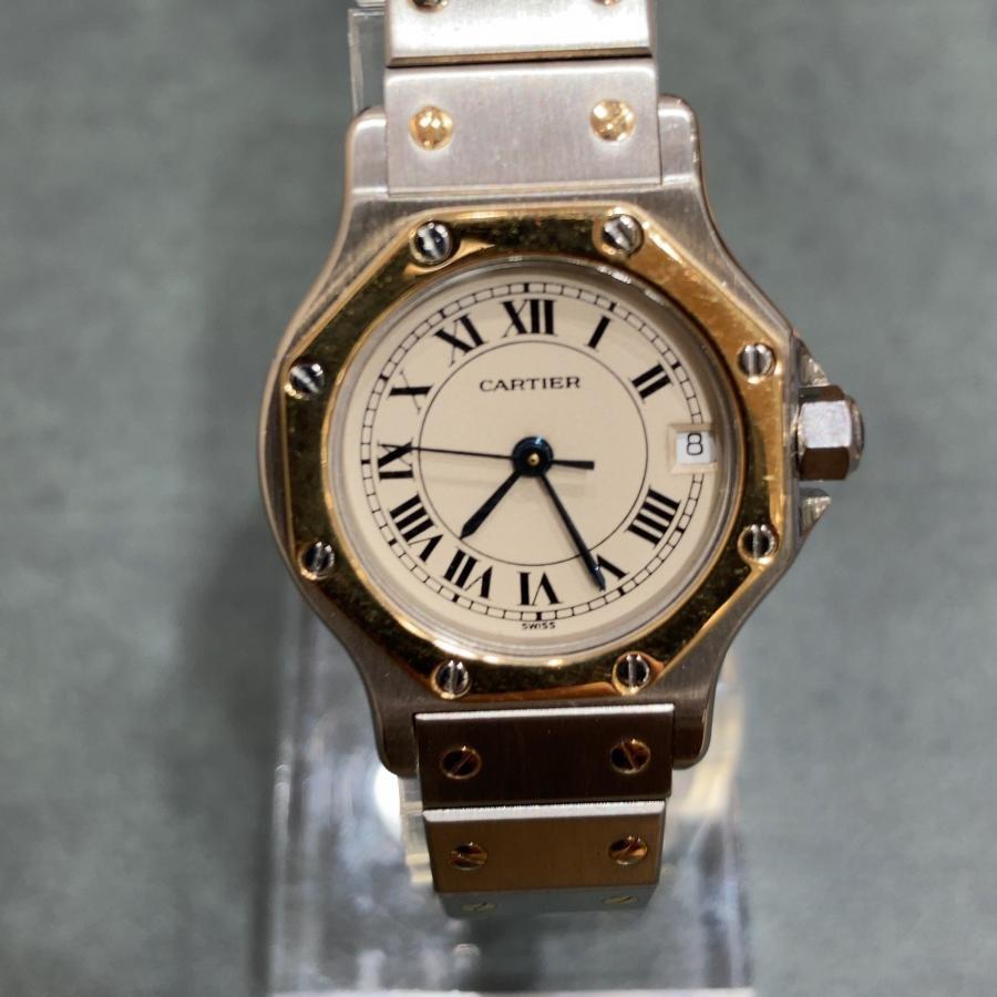 CARTIER カルティエ SANTOS サントス オクタゴン クォーツ 腕時計 中古 アンティーク