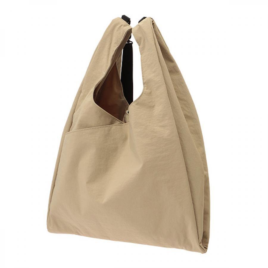 【SLOW】 Span nylon 2way grocery shopper L 2WAYグローサリーショッパー ベージュ 456S18J