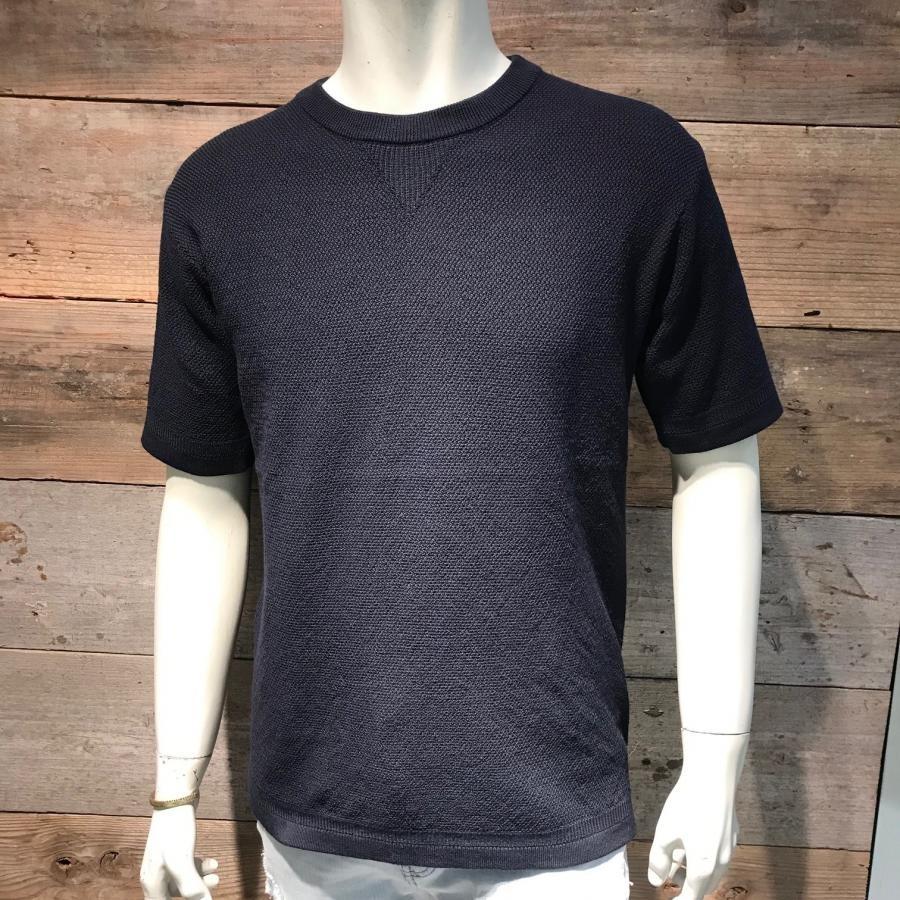 クルーネック ニットTシャツ