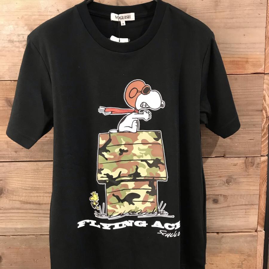 スヌーピー フライング・エース&ウッドストックプリントTシャツ