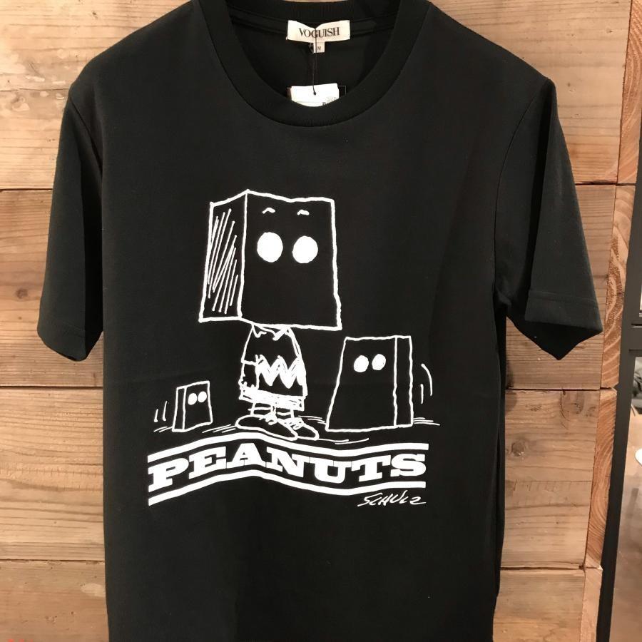 ペーパーバッグヘッド チャーリー・ブラウンプリントTシャツ