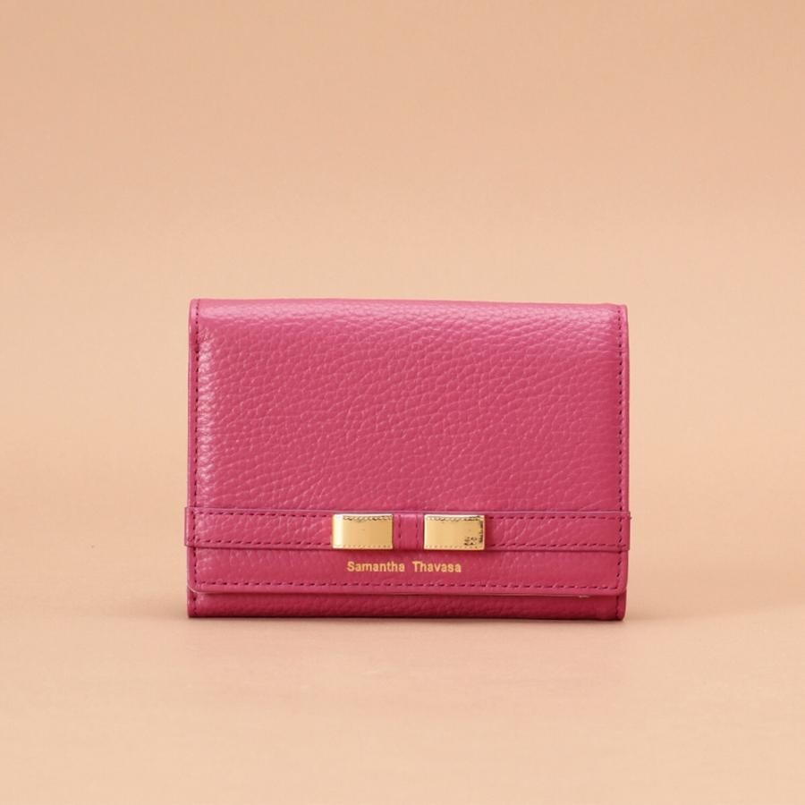 リボンモチーフ 三つ折り財布【3年保証対象品】