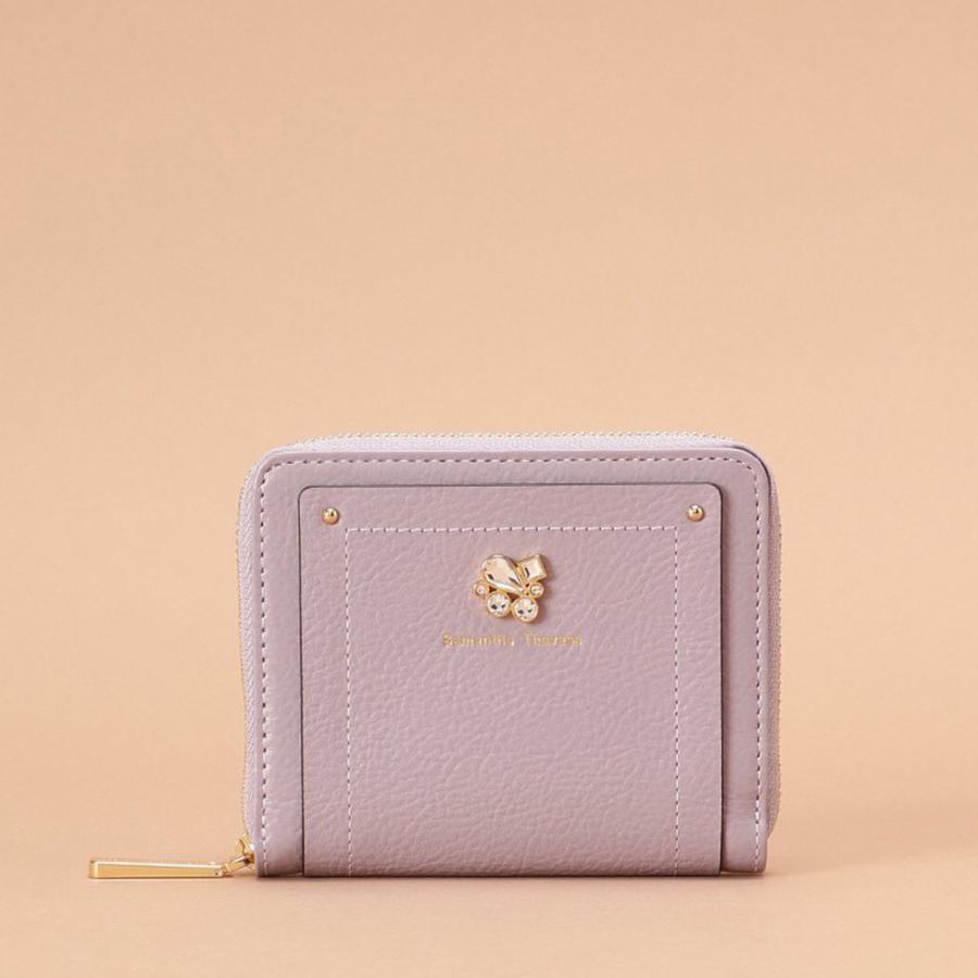 ビジューモチーフ 二つ折り財布【3年保証対象品】