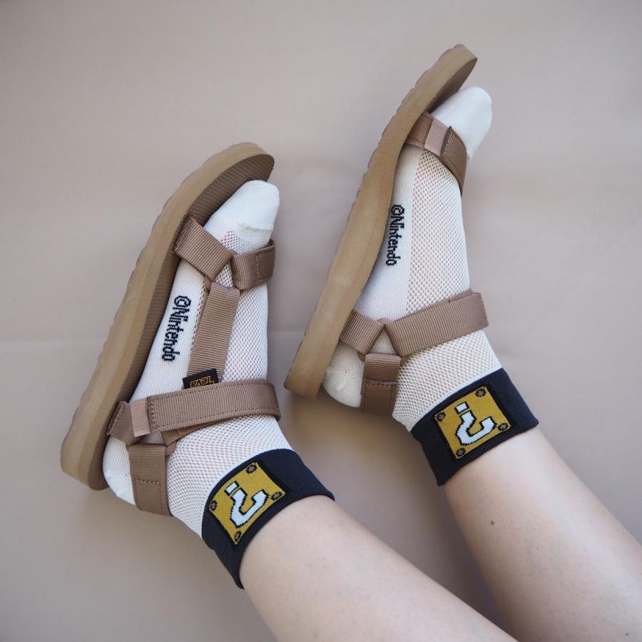 ワンポイントメッシュ靴下(22~24cm)白×ハテナボックス