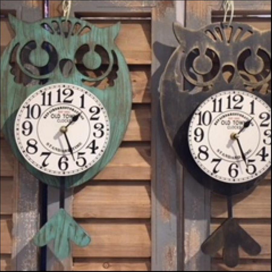 フクロウ時計