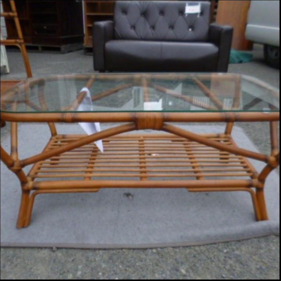 ラタンリビングテーブル