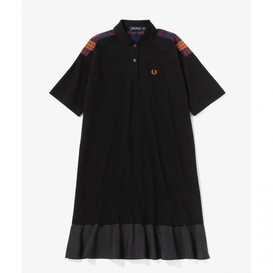 MIX PANELED PIQUE DRESS