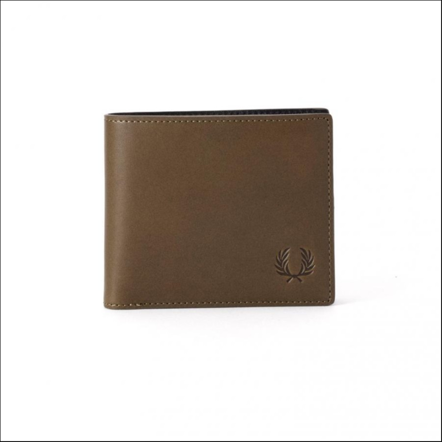 LAUREL LEAF DYED LEATHER BILLFOLD