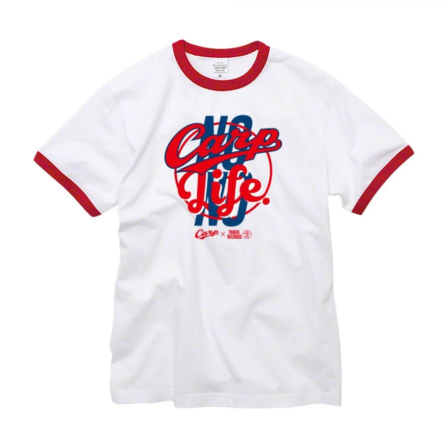 NO CARP, NO LIFE. 2019 Ringer T-shirts (レッド)