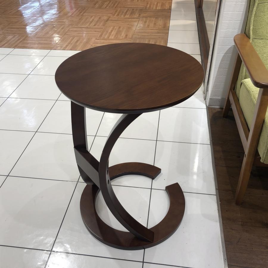 《展示品》ロータスサイドテーブル ブラウン色