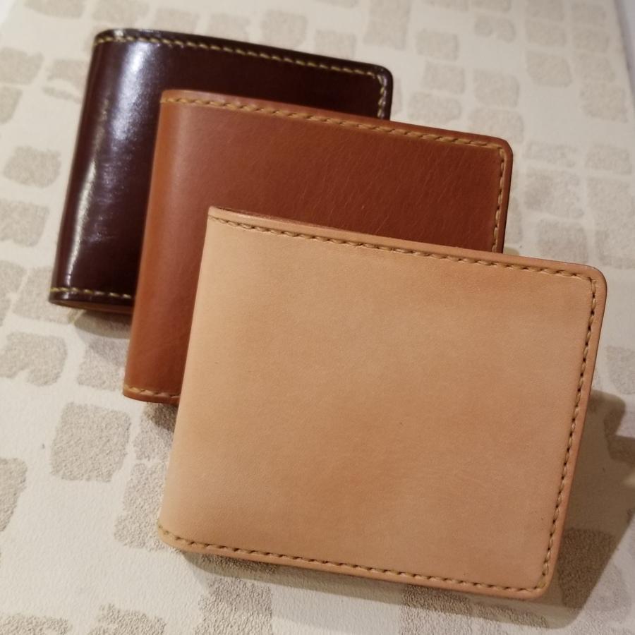 手縫い本革折財布