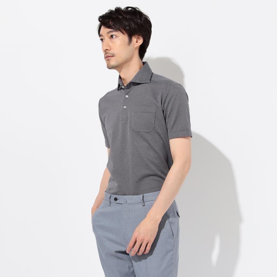 小柄 ワイドカラー プルオーバー半袖ポロシャツ