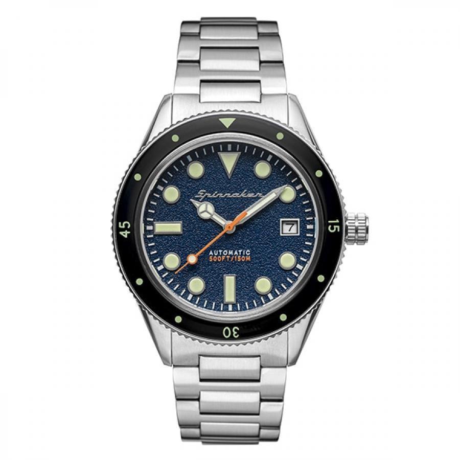 SPINNAKER スピニカー CAHILL ケーヒル SP-5075-22 TiCTAC限定モデル ダイバーズ 自動巻 ステンレス ネイビー 腕時計 メンズ