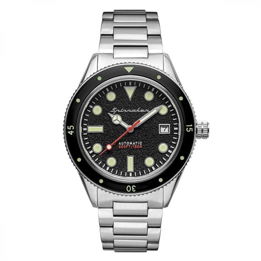 SPINNAKER スピニカー CAHILL ケーヒル SP-5075-11 TiCTAC限定モデル ダイバーズ 自動巻 ステンレス ブラック 腕時計 メンズ