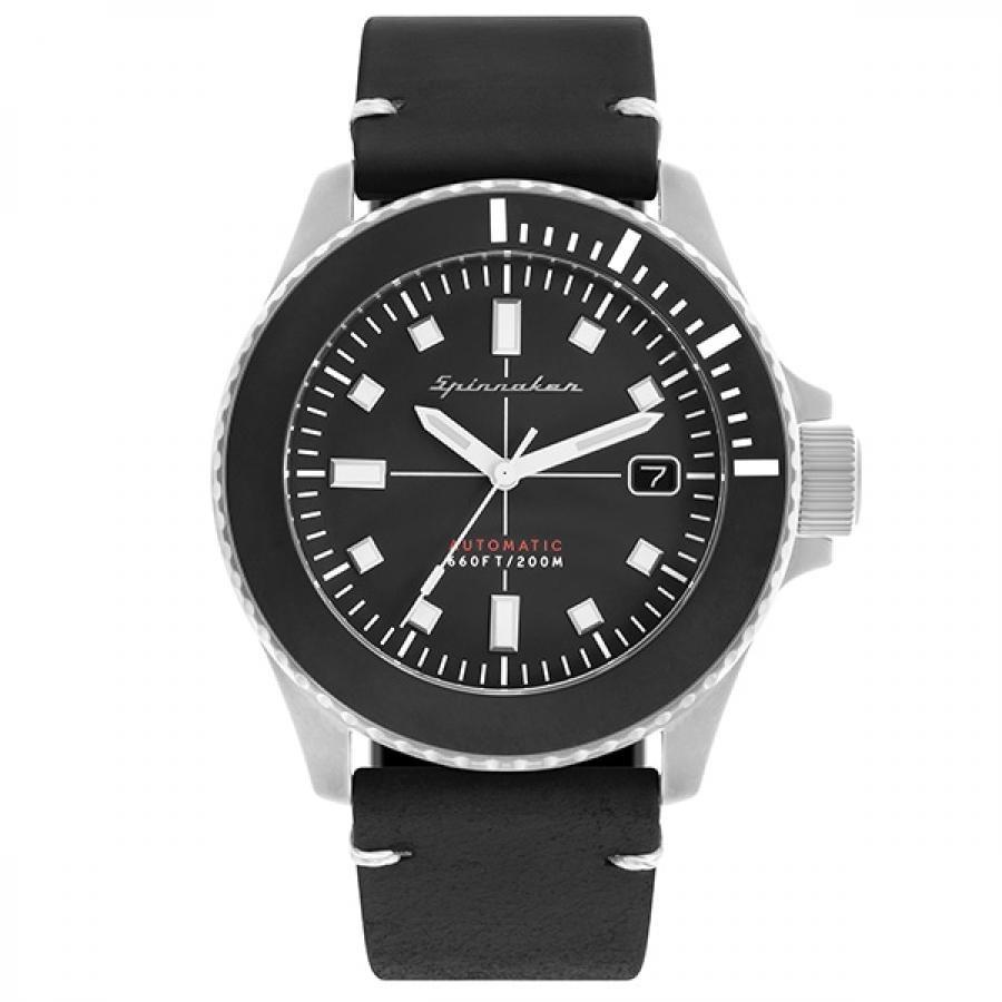 SPINNAKER スピニカー SPENCE DRAB スペンス ドラブ SP-5063-01 ダイバーズ 自動巻 レザー 腕時計 メンズ