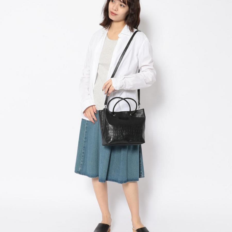 【直営店限定】クロコ型押しレザーバック/ LETHER TOTE BAG 6050201005