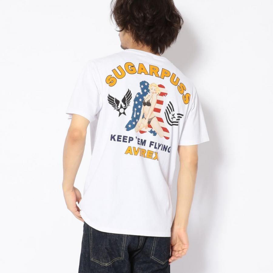 AVIREX シュガープス ピンナップガール Tシャツ/ SUGARPUSS PINUP GIRL T-SHIRT 6193408