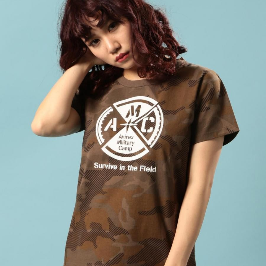 クルーネック Tシャツ/CREW NECK T-SHIRT【Avirex Military Camp】 6293122