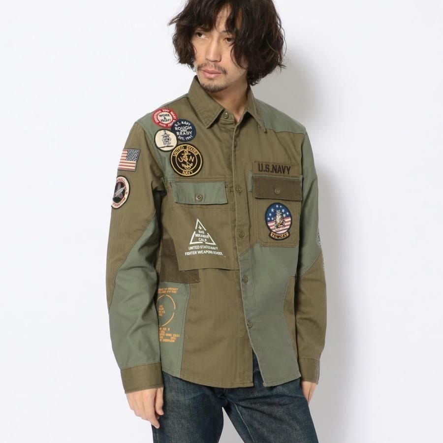 AVIREX リメイク ミリタリーシャツ /REMAKE MILITARY SHIRT 6105136