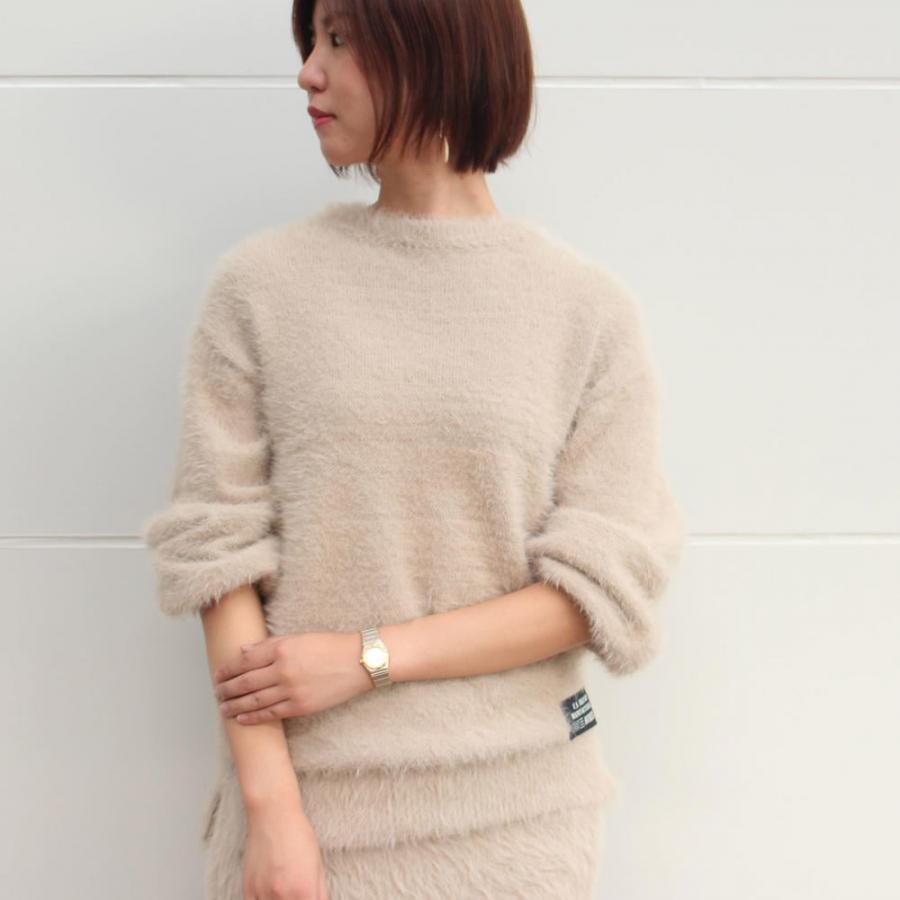 InRed掲載アイテム/ワンポイント シャギー チュニック/ONE POINT SHAGGY KNIT TUNIC