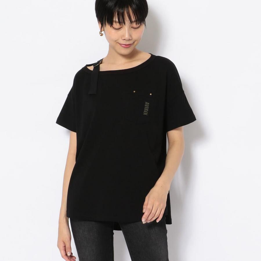 ショルダーテープミリタリーTシャツ/SHOULDER TAPE T-SHIRT