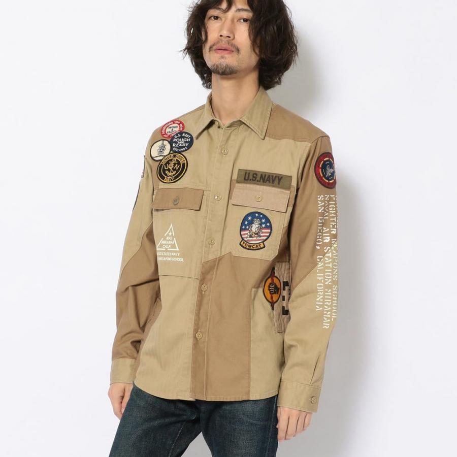 リメイク ミリタリーシャツ /REMAKE MILITARY SHIRT 6105136