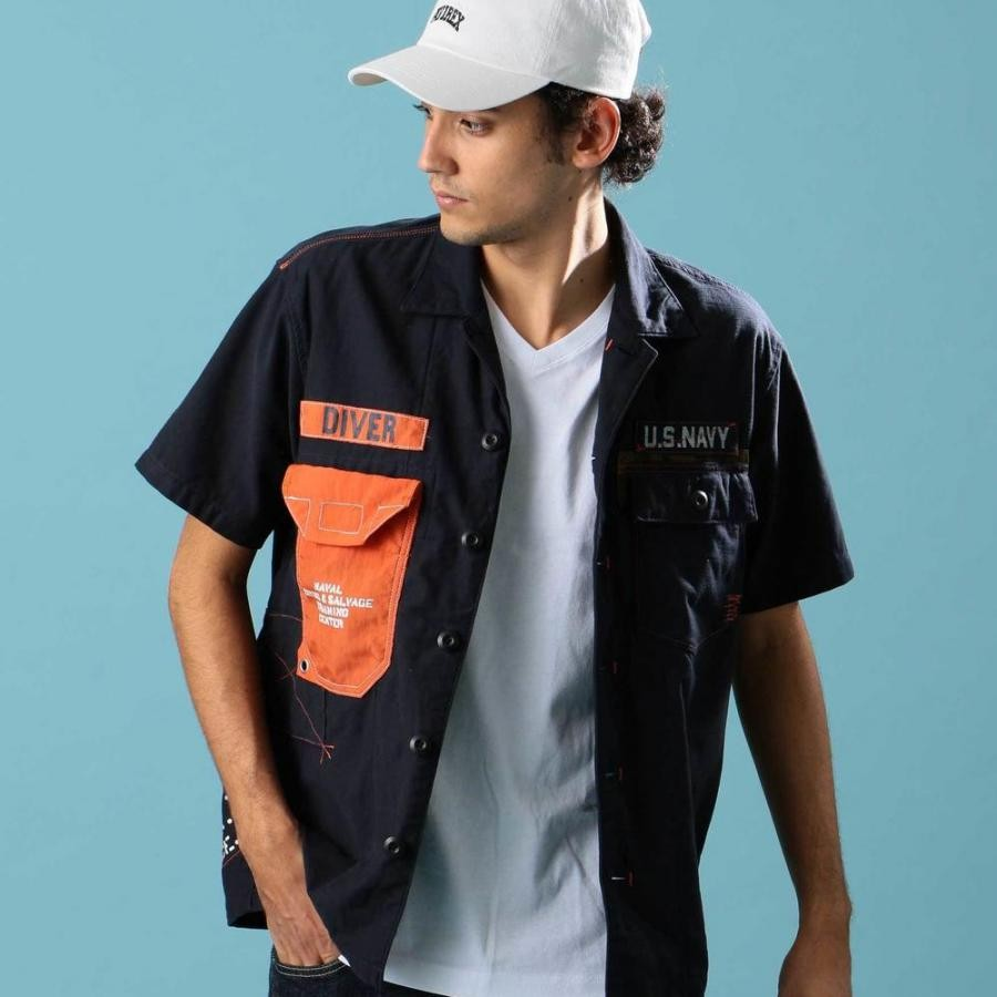 AVIREX リメイク ミリタリー シャツ/REMAKE MILITARY SHIRT 6195116